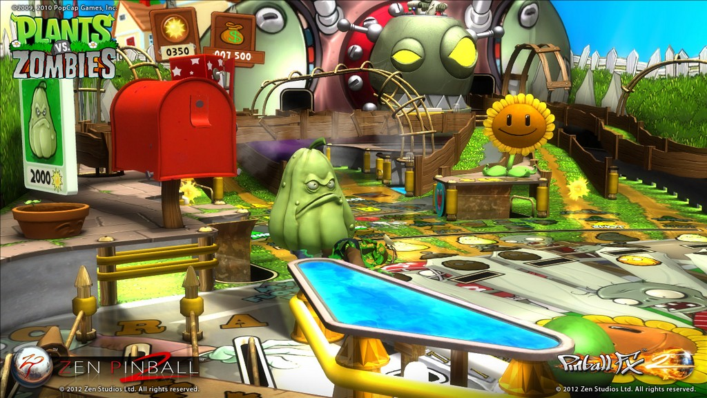 Zen pinball 2 pinball fx 2 plants vs zombies add on for Jardin zen plantas vs zombies